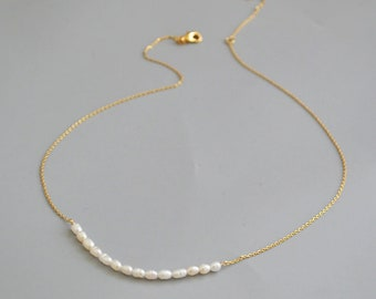 Gold Plated Pearl Beaded Necklace