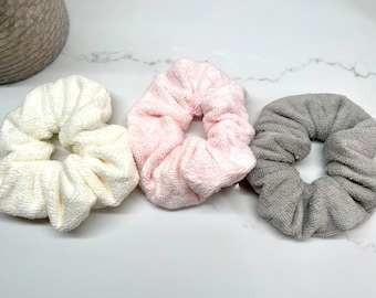 Large Towel Terry Cloth Scrunchie
