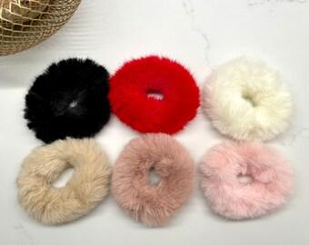 Fur Scrunchies