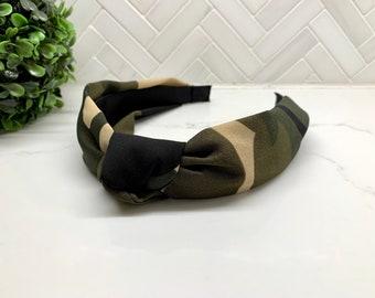 Camouflage Top Knot Headband