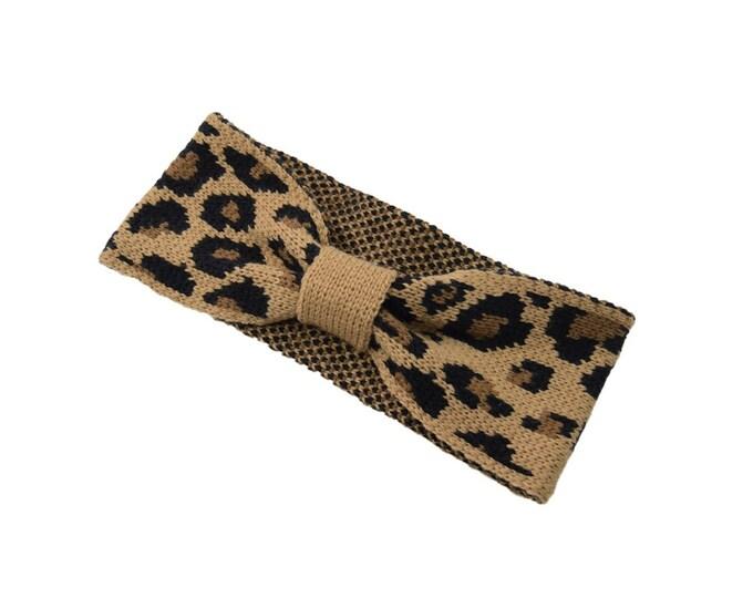 Leopard Knitted Ear Warmer