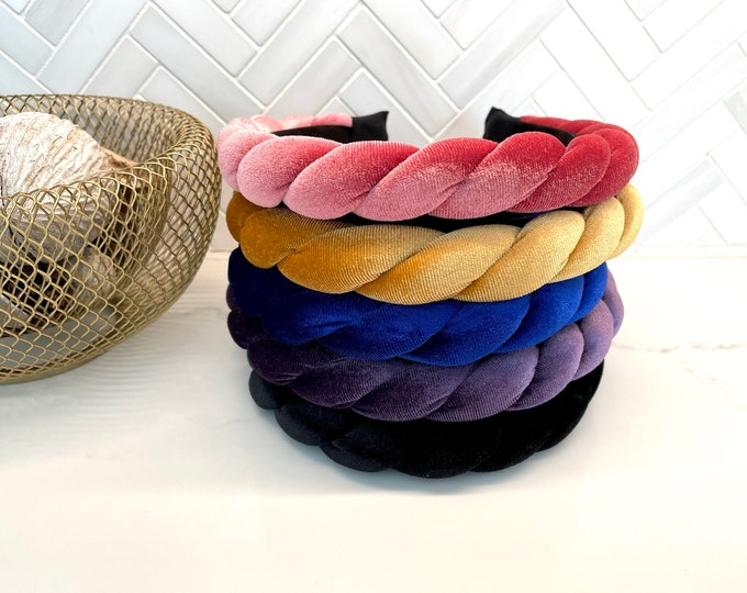 Braided Twist Velvet Headband