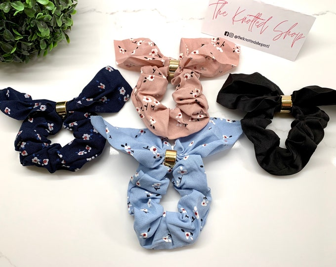Floral Bow Scrunchies