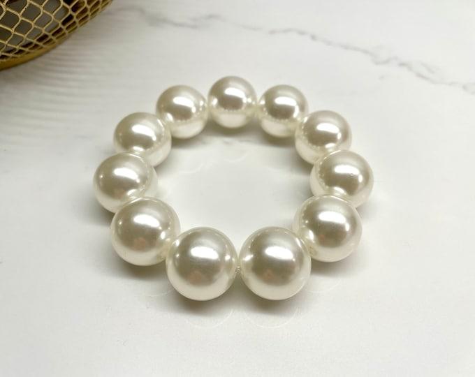 Large Pearl Scrunchie Elastic