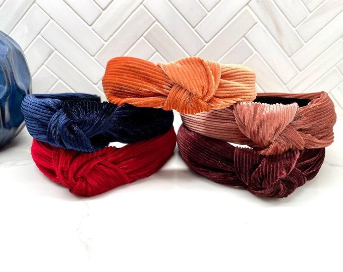 Kids Velvet Top Knot Headband