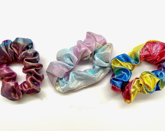 Glitter Tie Dye Hair Scrunchie