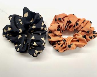 Heart Satin Hair Scrunchie