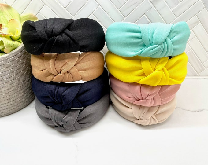 Classic Wide Padded Top Knot Headband