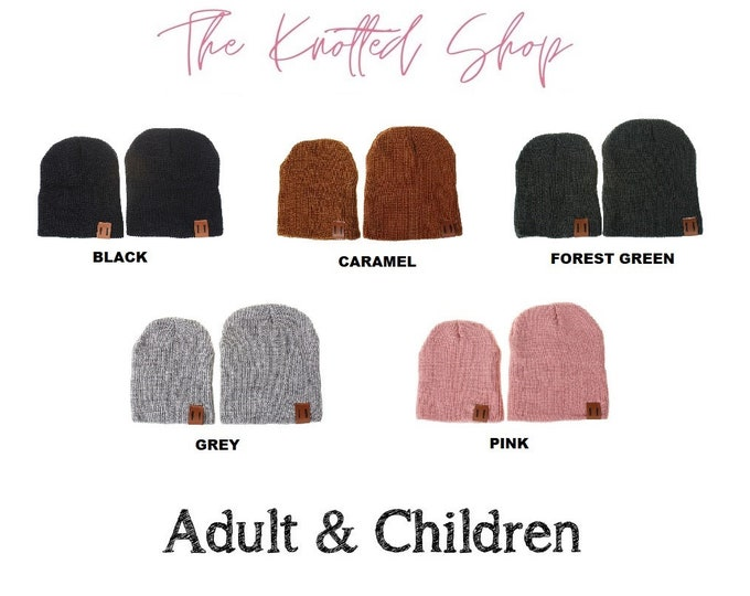 Matching Adult & Kids/Infant Beanie