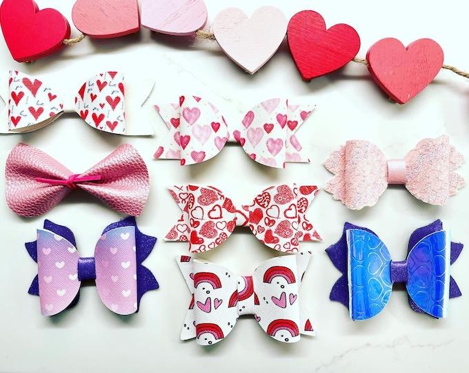 Heart and Rainbow Bows