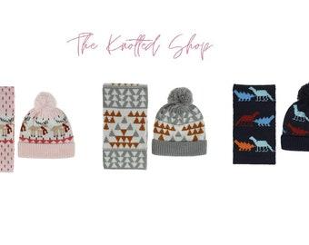 Infant Toddler Knitted Hat Scarf Set