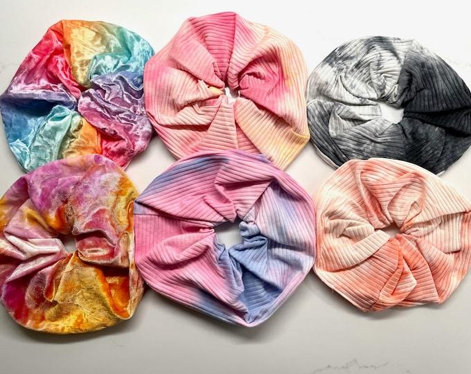 Oversized Tie Dye Scrunchies