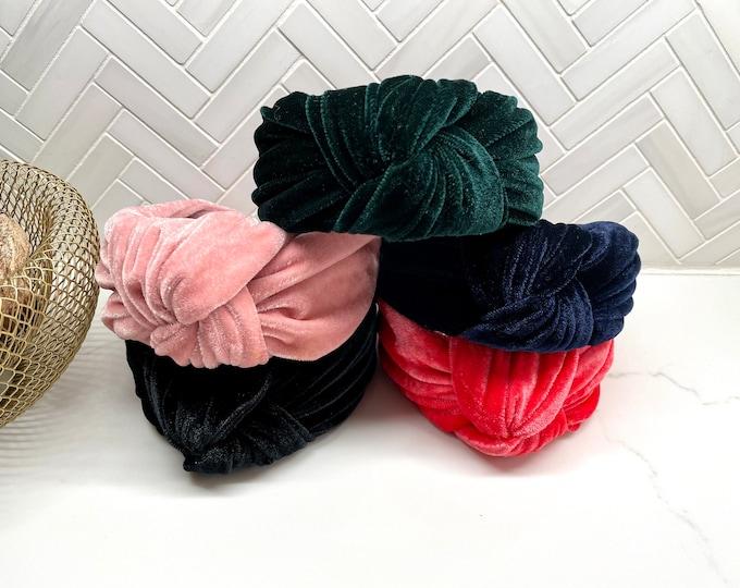 Wide Velvet Large Top Knot Headband