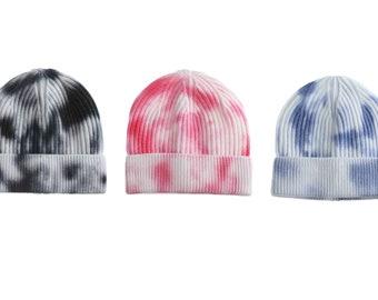 Tie Dye Knitted Beanie Hats