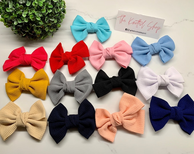 Stretch Liverpool Fabric Bow