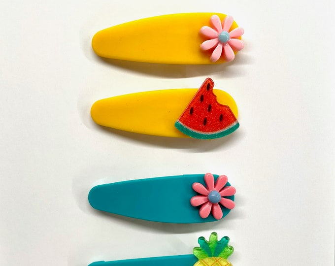 Summer Fruit and Flower Snap Clips
