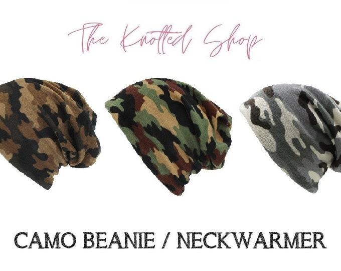 Adult & Kids Camouflage Beanies / Neckwarmer