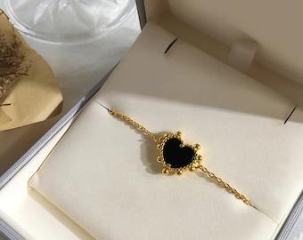 Enamel Hearts Bracelet