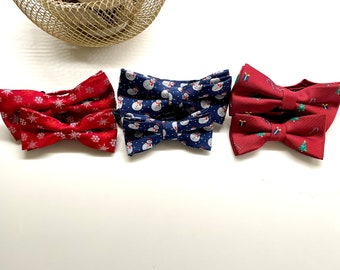 Daddy and son Holiday Bow tie set