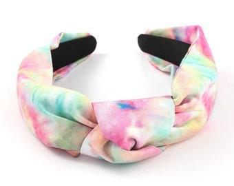 Top Knot Tie Dye Cotton Headband