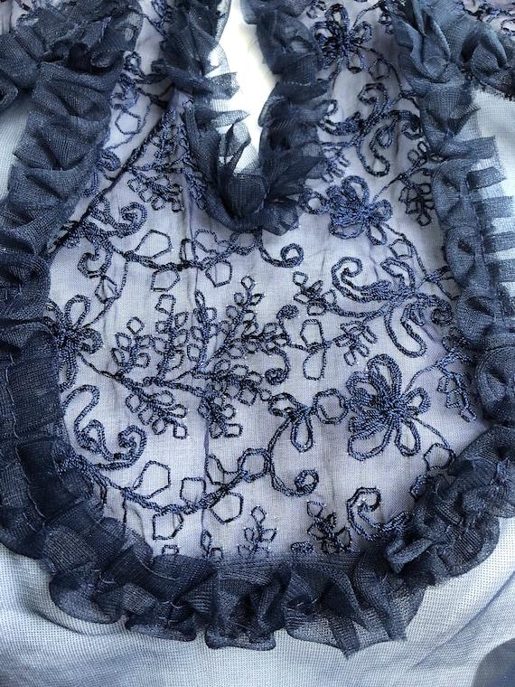 40s Vintage Sheer Puff Sleeve Blouse Deadstock - image 7
