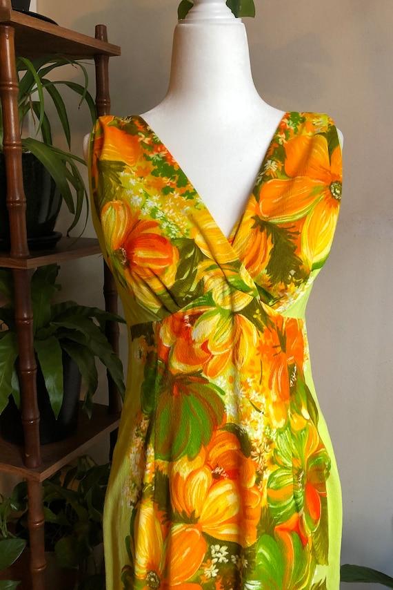 60s Vintage Elise Krassas Muumuu Dress