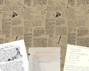 Recipe Wallpaper Etsy
