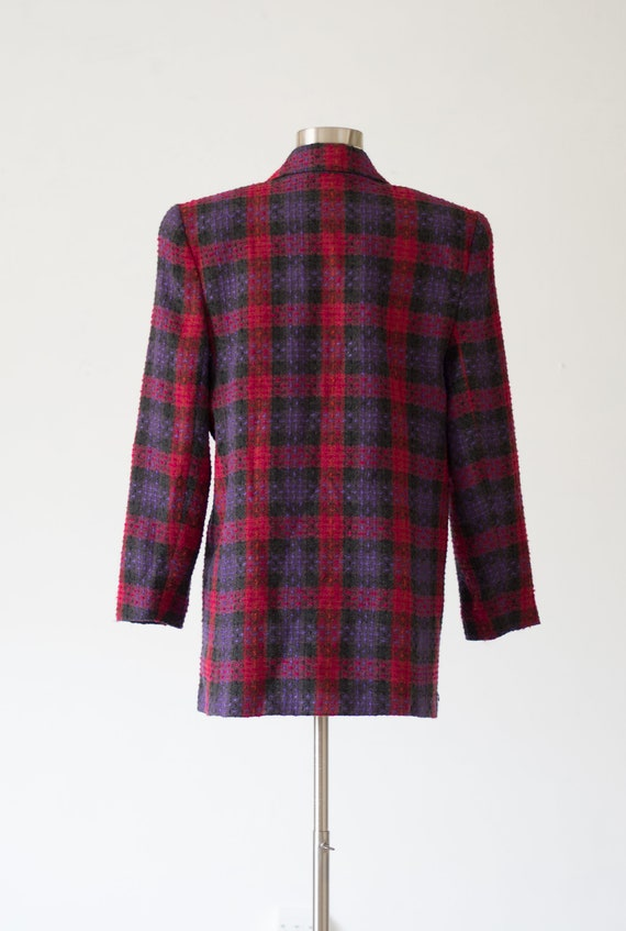 Vintage Plaid Blazer - 80s/90s - Pink, Purple, an… - image 3