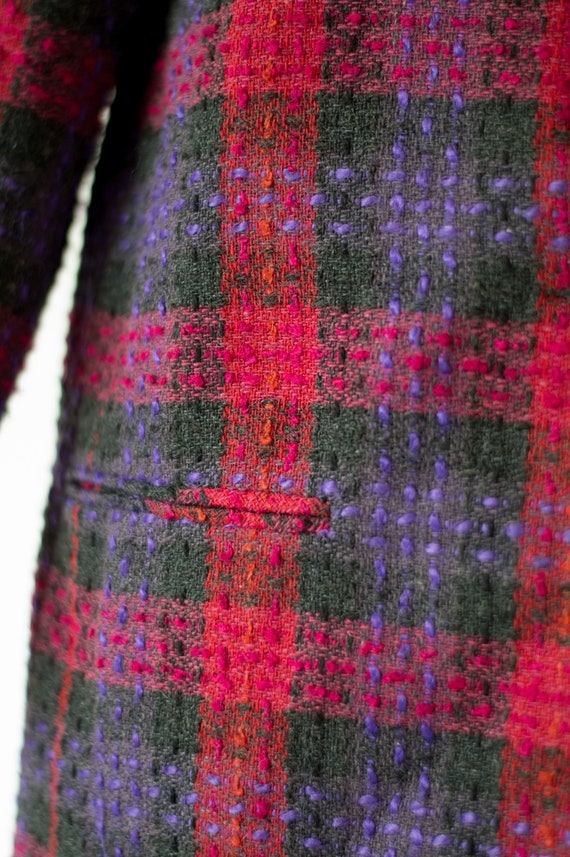 Vintage Plaid Blazer - 80s/90s - Pink, Purple, an… - image 5