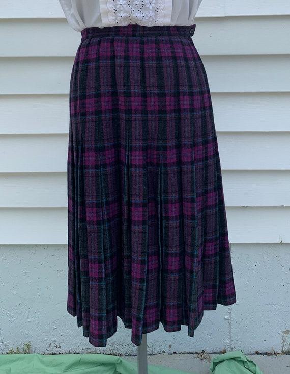 Vintage Pendleton Plaid Skirt, Purple Pendleton Sk