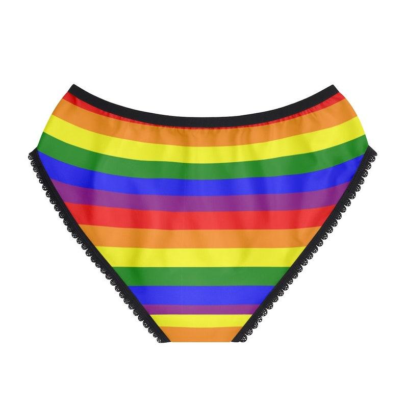 Rainbow Gay Pride LGBTQ Flag Stripes Women/'s Briefs Underwear Pantiesunderwear Panties