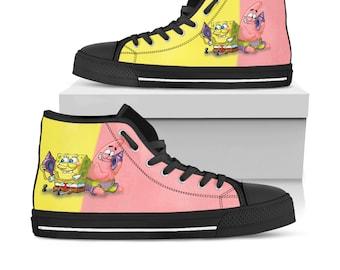 Spongebob shoes | Etsy