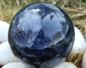 Iolite gemstone sphere ball This Feng Shui ball Natural Healing Stone for Reiki Healing Crystal Healing home office décor size 30 40 mm