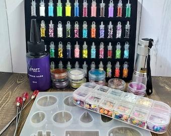 Deluxe resin starter kit, resin mix ins, resin glitter, resin beginner kit, all inclusive craft kit