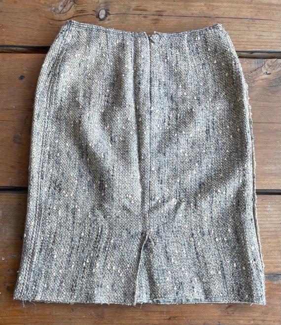 Vintage Prada Wos Skirt Sz- 38 - image 3