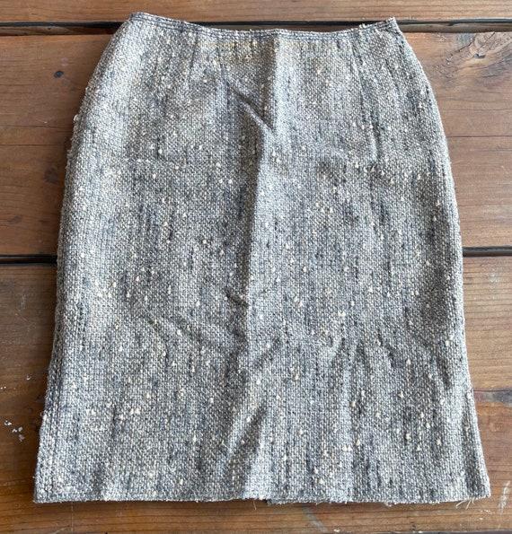 Vintage Prada Wos Skirt Sz- 38 - image 1