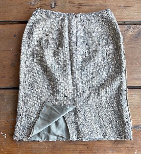 Vintage Prada Wos Skirt Sz- 38 - image 4