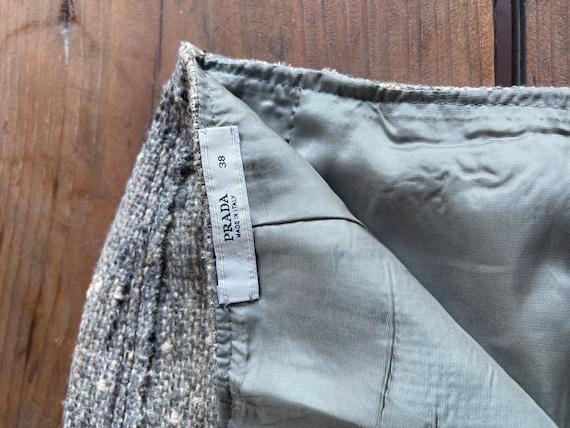 Vintage Prada Wos Skirt Sz- 38 - image 5