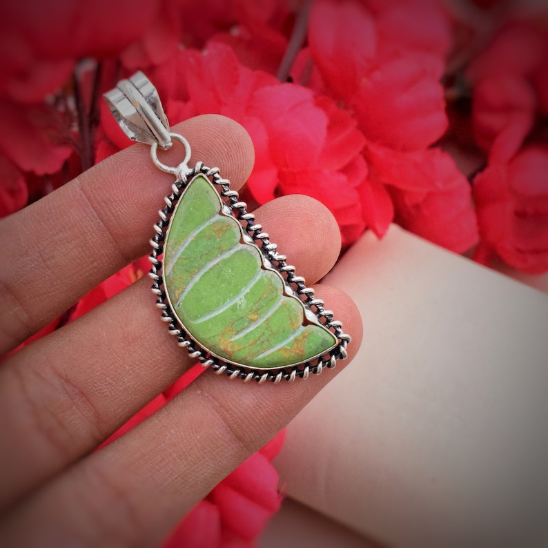 Jewelry Supply Collet Pendant Silver Plated Designer Pendant Carving Pendant Handmade Pendant Synthetic Gemstone Pendant