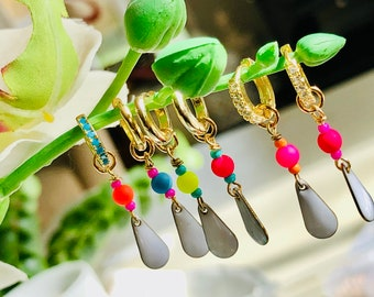 Handmade interchangeable ear charms to hang off huggies
