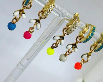 Bella limited edition - bright little charms for hanging off huggies or hoops.