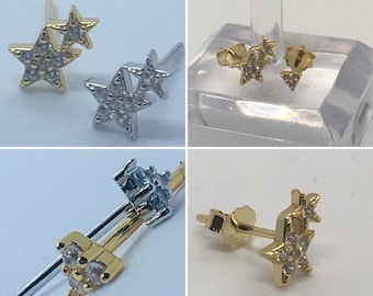 Sterling silver ear studs sold individually
