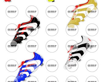Pack Of 6 No Football Boots Stickers