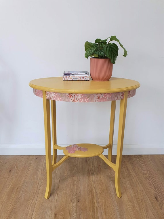 Decorative Table | Upcycled Furniture | Yellow | Mustard | Hallway | Living Room