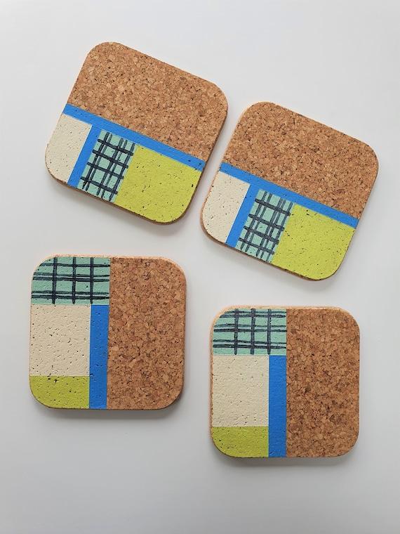 Square Cork Coasters | Tableware | Home Accessories | Geometric Design