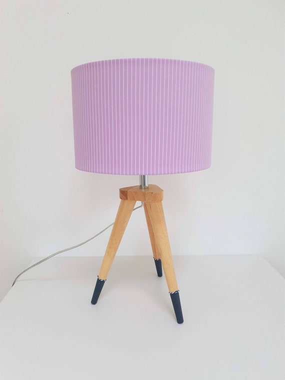 Lampshade | Lilac | Stripe Design | Upcycle | Lighting