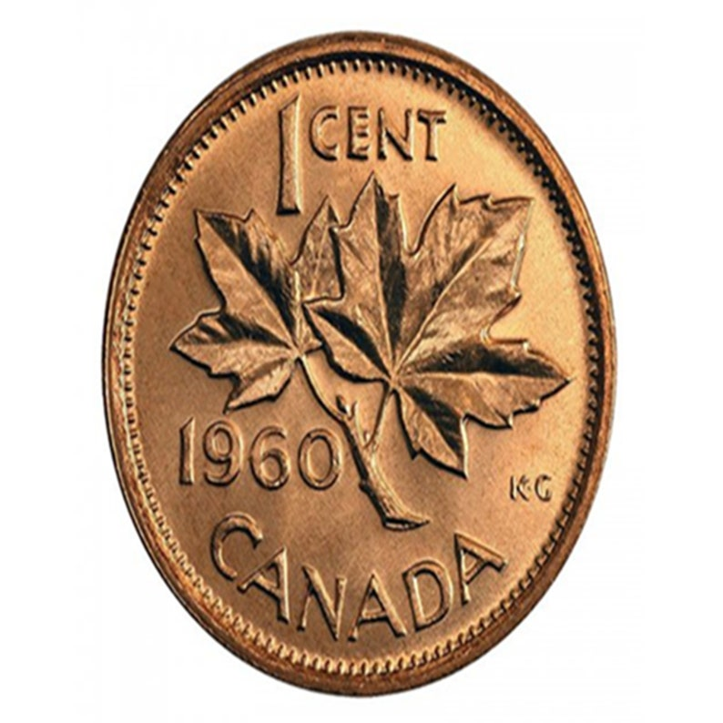 1960 1 Cent Canadian Penny BU from Original Roll