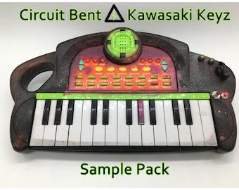 Circuit Bent - Kawasaki Keyz - SAMPLE PACK - Loops - Beats - Breaks - Glitch - Noise