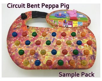Circuit Bent Peppa Pig - SAMPLE PACK - Sound Design - Drone - Electronic - Glitch - Noise