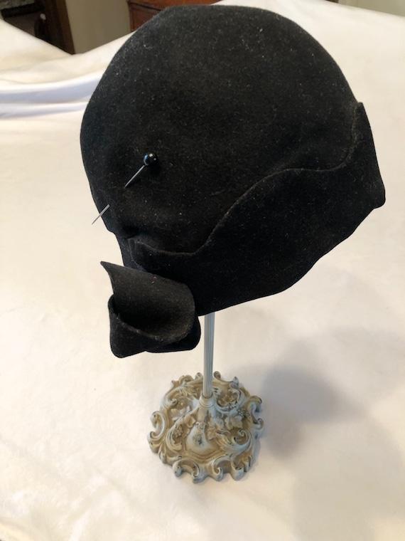 1920's Black Cloche Hat